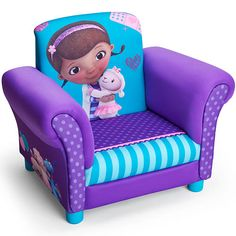 5dcb54c08ce The Disney Junior Doc McStuffins Upholstered Chair is a fun place to relax