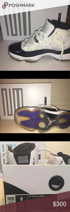 AIR JORDAN 11 RETRO sneakers size 8 Worn once! Practically new. Box and packaging included Nike Shoes Sneakers