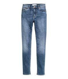 Skinny Regular Jeans   Denimblå   Dame   H&M NO