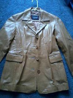 Ladies Leather coat - size Med
