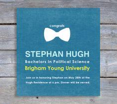 Bow Tie College Graduation Announcement. $18.00, via Etsy.