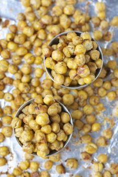 Ranch Roasted Chick Peas are a super easy and healthy snack! A great alternative to chips!