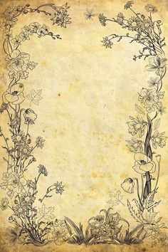 flower old paper by VanessaBettencourt on DeviantArt old paper flower border . flower old paper by Old Paper Background, Background Vintage, Textured Background, Molduras Vintage, Papel Vintage, Journal Paper, Junk Journal, Writing Paper, Printable Paper