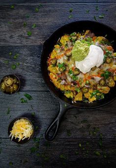 Nacho Steak Skillet (I will use olive oil instead of coconut).