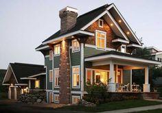 Exterior Craftsman Cottage House Design Ideas