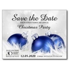 Corporate Holiday Party Save The Date Announcement Postcard