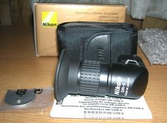 Mint Genuine Nikon DR-5 Right-Angle Viewing Attachment W/ Case, Key & Inst. NR #Nikon