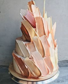 "9 Beautiful Chocolate ""Brushstroke"" Cakes - Creative Cake Decorating Ideas"
