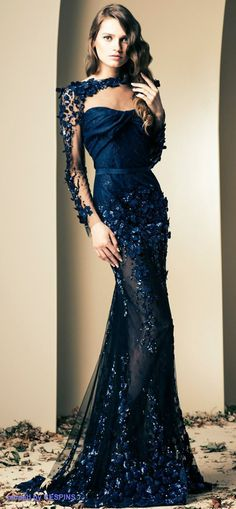 #Navy #Blue #dress ziad nakad
