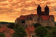 If you go to Quedlinburg (and you should!), stay in the Hotel zum Schloss. http://www.hotel-zumschloss-quedlinburg.de/ This castle is the view from your window!
