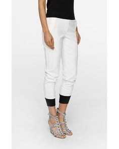 Buy Nicole Miller Women's White Crepe Jogger Pants, starting at $80. Similar products also available. SALE now on!