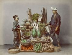Hand-colored photo.  About late 19th century, Japan