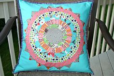 Strip Pieced Dresden Pillow Tutorial by Sew Crafty Jess