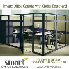 Smart Office Solutions provides wall systems to give you and your clients privacy when needed. For more information on glass wall systems and installation please call: Office Space Planning, Glass Wall Systems, Mill Work, Smart Office, The Unit, How To Plan, Simple, Furniture, Home Decor