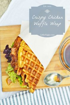 Crispy Chicken served in a Cheddar Waffle and topped off with Smokey Bacon and a drizzling of Maple Balsamic Vinaigrette dressing. Perfect for any time of day.