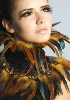 steampunk feather collar Victorian vintage glamour gothic festival
