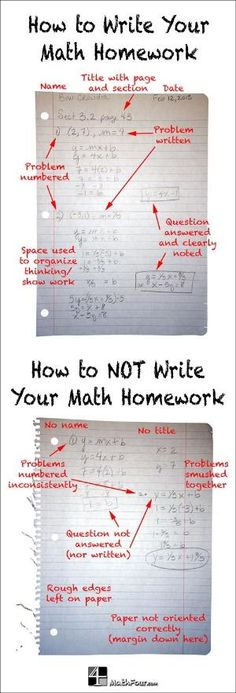 Are you frustrated with the sloppiness or disorganization of math homework? Here are some tips to help your students. ~Bon by mamie