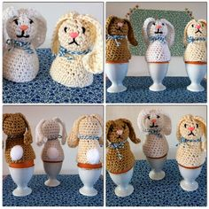 wire and talk .: Keep warm please . Crochet Egg Cozy, Cute Crochet, Easter Crochet Patterns, Amigurumi Patterns, Crochet Chart, Crochet Basics, Bunny Crafts, Easter Crafts, Crochet Gifts