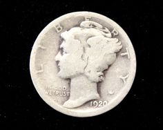1920 Good or Better Mercury Dime, 90% Silver!  . Starting at $1