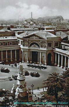 """Genova, veduta dalla stazione ferroviaria """"Principe"""" (1925 circa)"""