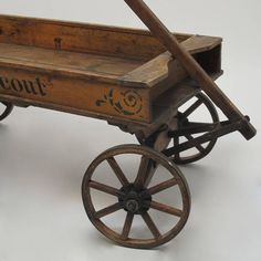 Original Chief Scout Wooden Wagon For Sale at Kids Wagon, Toy Wagon, Antique Toys, Vintage Toys, Vintage Antiques, Pallet Patio Furniture, Unique Furniture, Radio Flyer Wagons, Wagons For Sale