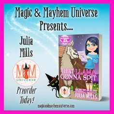 Get to know Monique Morninglory – Mockingbird Shifter Extraordinaire, Maiden of Mayhem, and proud godmother to the cutest set of half-Flamingo/half-Hound Dog twins in That Llama Gonna Spit by Julia Mills. Preorder TODAY! #MagicMayhemUniverse #ebook #pnr #preorder