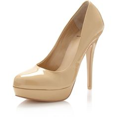 Kelsi Dagger Lizzy Patent Pump, Nude ($67) ❤ liked on Polyvore