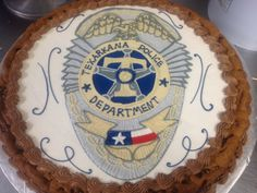 cookie cake with badge