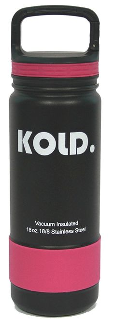 KOLD. Sports Water Bottles - Vacuum Insulated Stainless Steel Sports Bottle, Wide Mouth, 18 - 40 Ounce, with Caribiner Handle Lid, and Silicone Sleeves ** This is an Amazon Affiliate link. Read more at the image link.