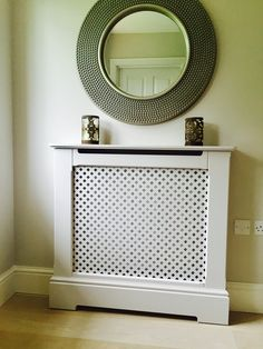Made to Measure Radiator Cover - Supreme Quality Radiator Cabinet - Factory Grade Paint Finish - Fully Assembled Brackets Attached - Easy Install. Traditional Radiators, Lacquer Paint, Radiator Cover, Easy Install, Paint Finishes, Paint Colors, Entryway Tables, Hardwood, House Design