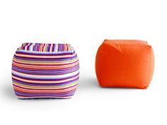 Upholstered pouf GEL by Zalf