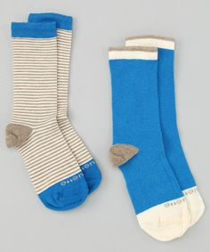 Blue Sailor Stripe Sock Set on #zulily