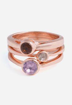 Framboise Ring Set