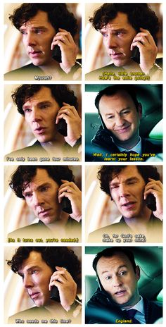 Sherlock's 4-minute exile. | HE'S BEEN CRYING