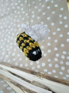 little bee toy  hornet knitted bumblebee Insect by CuteGiftStudio