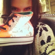 """Got the grinch who stole Christmas converse from @mcartermusic yay!:)"""