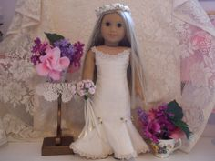 Wedding Gown / Evening Gown by SimpleDollClothes on Etsy, $40.00