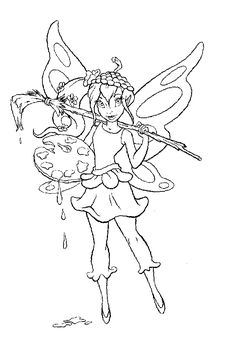 Fairy Pictures to Color | fairy+to+color.gif