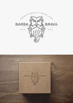 Logo Design - Barba brava Brand ID logo packaging Gfx Design, Design Logo, Design Poster, Graphic Design Typography, Brand Identity Design, Camera Logo, 2 Logo, Logo Branding, Corporate Design
