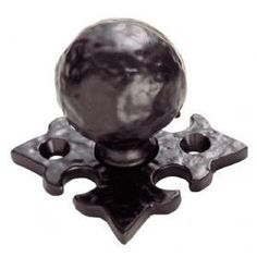 Hammered Ball Cabinet Knob - Gothic Backplate Kershaw Doors