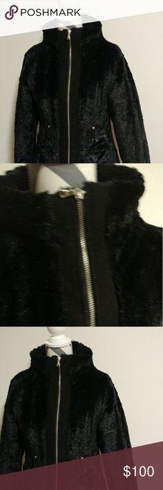 Luxury fur coat Long sleeve iz girl Jackets & Coats