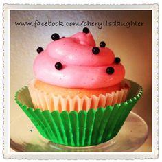 Watermelon Cupcake with Watermelon Buttercream by Cheryll's Daughter Kansas City