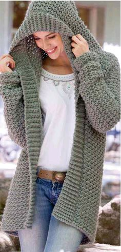 20 Free Crochet Sweater Patterns Perfect for Chilly Days - Ideal Me - Free Knitting Pattern Weekend Casual Hooded Sweater Crochet Pattern - Free Knitting Pattern Always aspired to learn how to . Crochet Poncho, Crochet Sweaters, Crochet Sweater Patterns, Crochet Jacket Pattern, Crochet Hoodie, Vintage Crochet Patterns, Free Crochet, Hooded Scarf Pattern, Free Knitting Patterns For Women