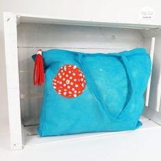 Strandtasche mit Reißverschluss, Farbe türkis Abmessungen: 45,5 cm x 6 cm x 34 cm Preis: € 17,- Jetzt bestellen: http://www.popcut.at/diy/webshop/