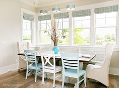 Dining Space - painted chairs