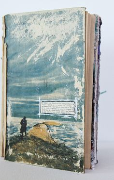 Sascha Schmidt - poems journal. photo transfers on pages of an old book #altered #image_transfer #journals