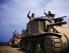 spectacular color photos capture wwii tank crews in training m3 leefort