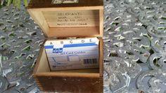 Wood Recipe Box Double Hinged Box Merchant's Box by FlatRockGoods
