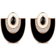 Josephine Ear Clips by The Jewel Teller ($6,310) ❤ liked on Polyvore featuring jewelry, earrings, art deco earrings, pave earrings, abstract jewelry, earring jewelry and jewels jewelry