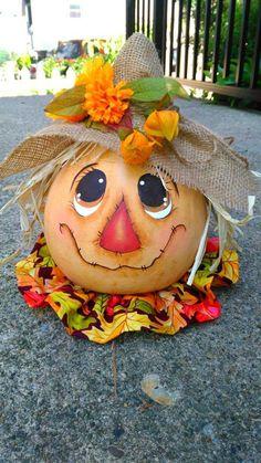 23 perfektných nápadov z tekvíc - jeden krajší, ako druhý: Toto bude chodi. Pumpkin Images, Pumpkin Art, Pumpkin Crafts, Fall Crafts, Gourd Crafts, Pumpkin Ideas, Pumpkin Painting, Thanksgiving Crafts, Holiday Crafts